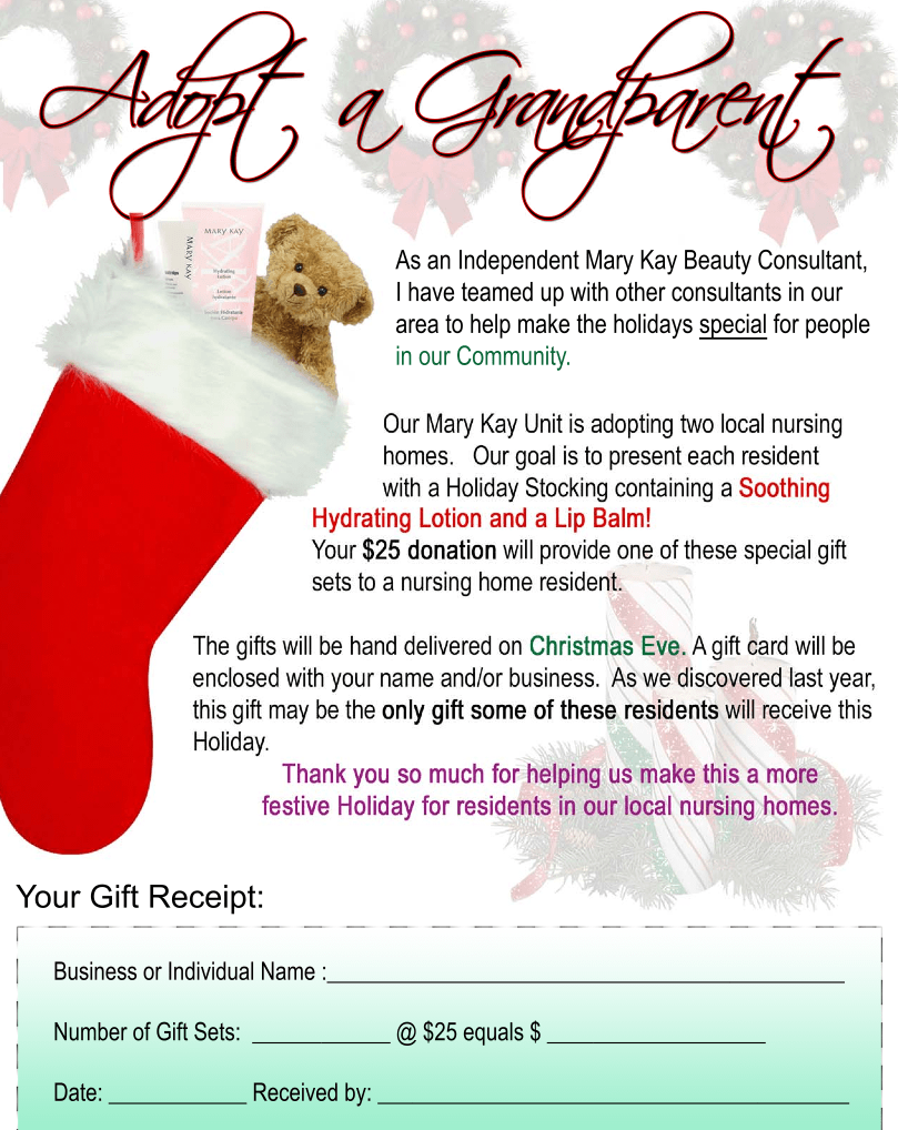 editable christmas gifts for the elderly adopt a grandparent