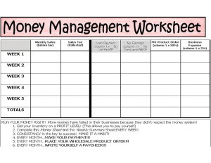 Worksheet How To Manage Your Money Worksheets anne hanson mary kay sales diretor united states money management managing your mk effectively worksheet