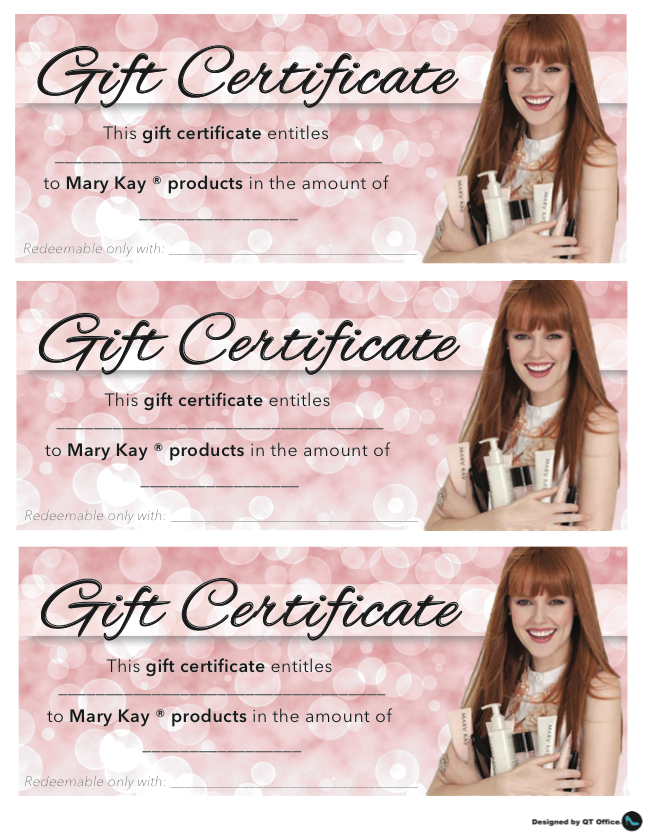 Anne hanson mary kay sales diretor us tc gift certificates gift certificates yadclub Choice Image