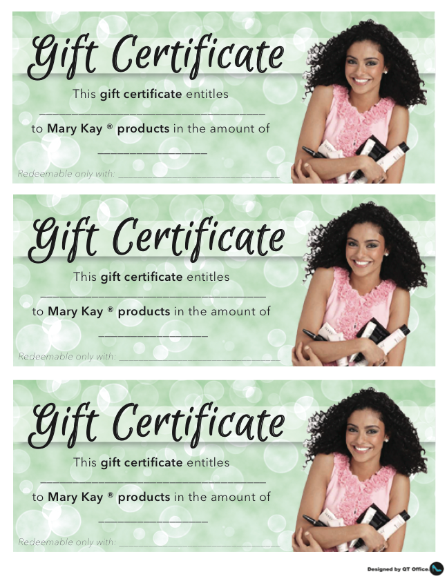 Anne Hanson Mary Kay Sales Diretor-US TC Gift Certificates