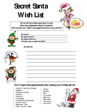 Massif image with regard to secret santa wish list printable