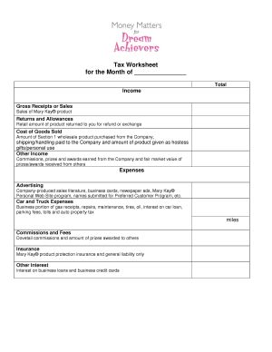 Printables Tax Preparation Worksheet anne hanson mary kay sales diretor united states money management inventory pay off plan manage your tax worksheet checklist