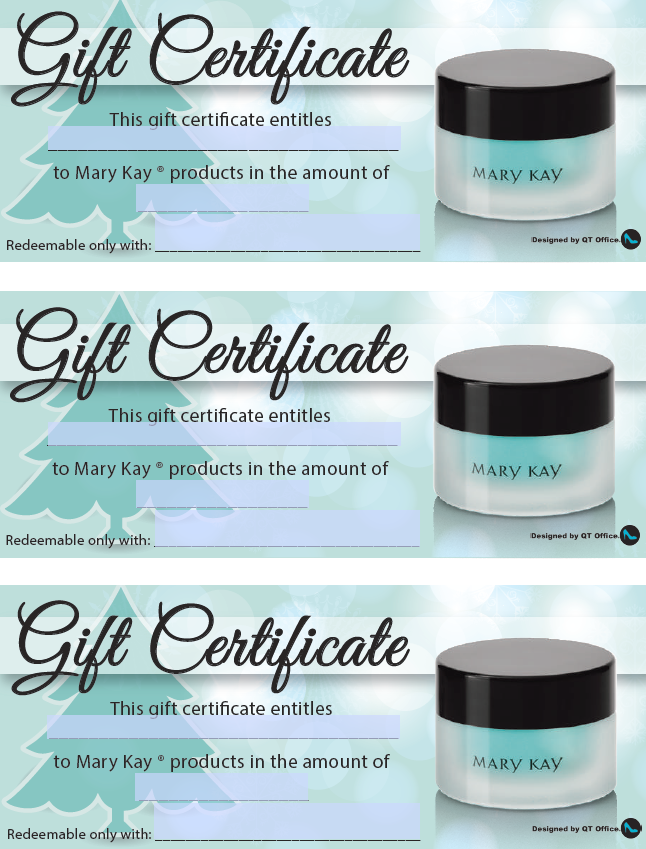 Anne Hanson Mary Kay Sales Diretor Us Tc Gift Certificates