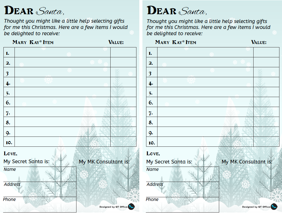 secret santa wish list secret santa card template kids santa